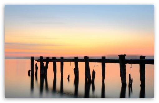 Download Sea Sun Set UltraHD Wallpaper