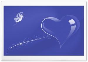 Glass Heart Blue