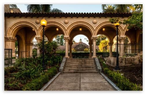 Download Balboa Park Arches UltraHD Wallpaper