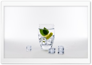 Glass of Water with Lemon,...