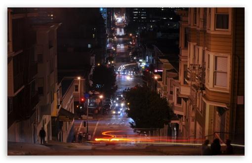 Download San Francisco At Night, California UltraHD Wallpaper