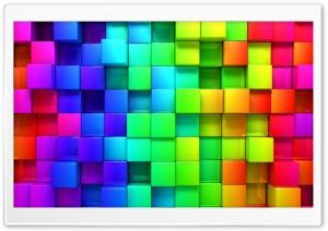 Rainbow Vivid Colors Cubes