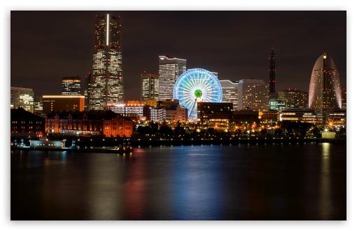 Download Japanese City At Night UltraHD Wallpaper