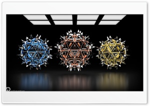 Spiky Spheres 4k