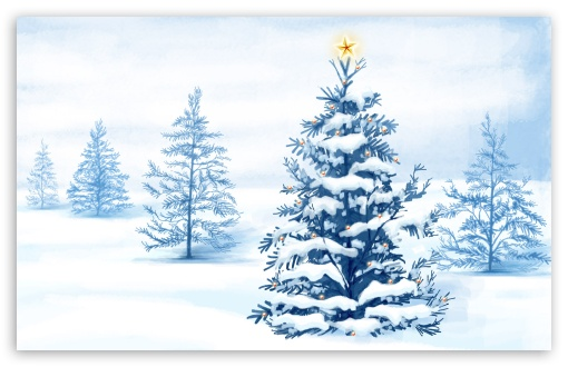 Download New Year Christmas Tree UltraHD Wallpaper