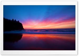 Beautiful Smooth Beach, Sunset