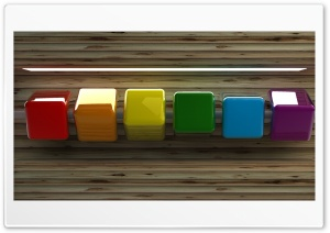 Row of Coloured Cubes