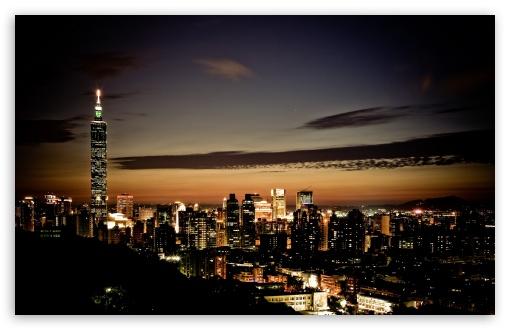 Download Taipei 101 At Night UltraHD Wallpaper