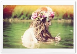 Girl Lake Mood