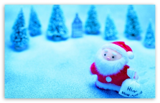 Download Cute Santa Claus UltraHD Wallpaper