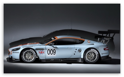 Download Aston Martin DBR9 Side View UltraHD Wallpaper