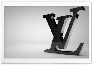 Louis Vuitton Shiny Black Logo