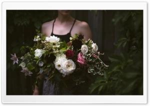 Flowers Bouquet, Woman