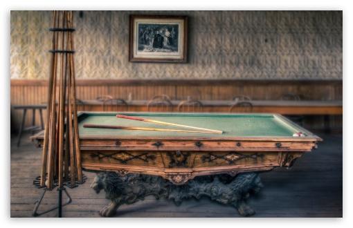 Download Famliy Billiards Table UltraHD Wallpaper