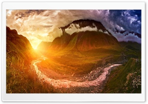 Sunshine, Mountain Landscape...