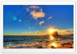 Summer Sunset Scene