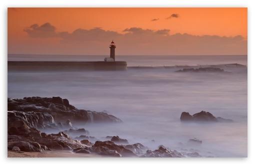 Download Ocean Lighthouse UltraHD Wallpaper