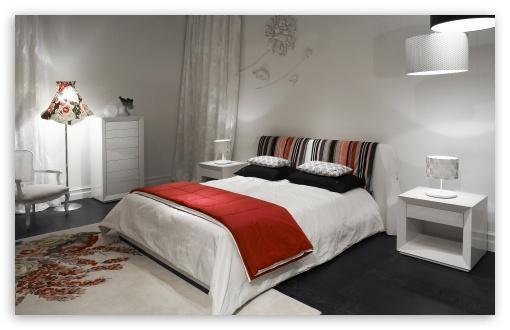 Download White Bedroom UltraHD Wallpaper