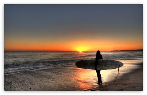 Download Surfin' the Sunset, San Clemente, CA UltraHD Wallpaper