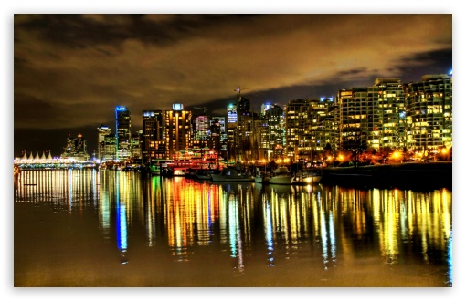 Download Harbour At Night UltraHD Wallpaper