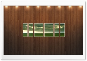 Green Field Picture   Wood Wall