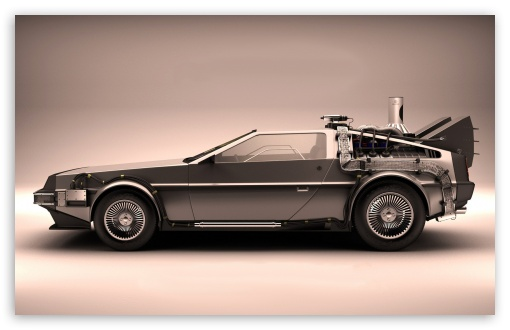 Download Car From Back To The Future UltraHD Wallpaper