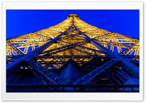 Eiffel Tower Blue And Yellow