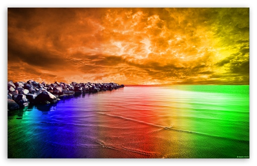 Download Psychedelic Landscape UltraHD Wallpaper