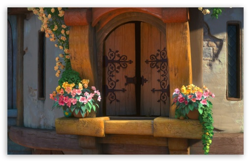 Download Tangled The Tower Window UltraHD Wallpaper