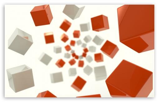 Download 3D Cube UltraHD Wallpaper