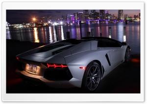 Lamborghini Aventador at Night