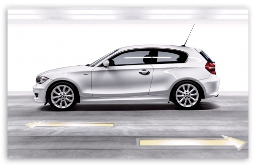 Download BMW 1 Series White UltraHD Wallpaper