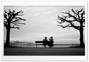 Sitting On A Bench And Taking...