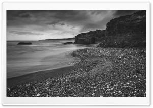 Beach Castle Black and White