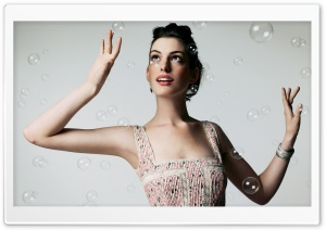 Anne Hathaway And Bubbles