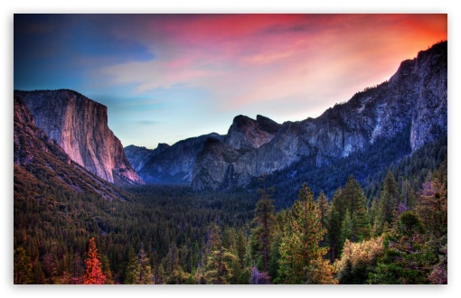 Download Amazing Sunset in Vally UltraHD Wallpaper