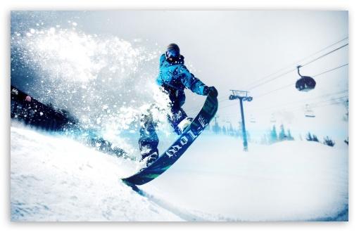 Download Snowskate Winter Sports UltraHD Wallpaper