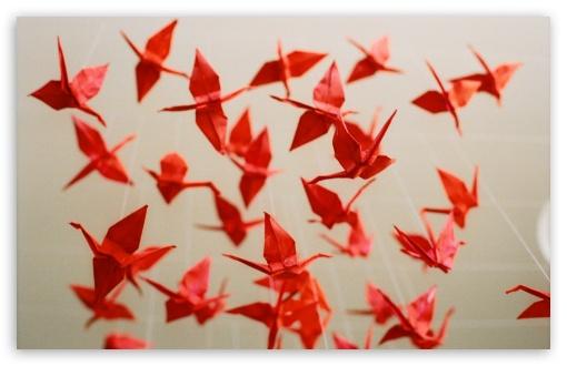 Download 1000 Paper Cranes UltraHD Wallpaper