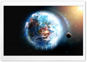 Futuristic Outer Space View