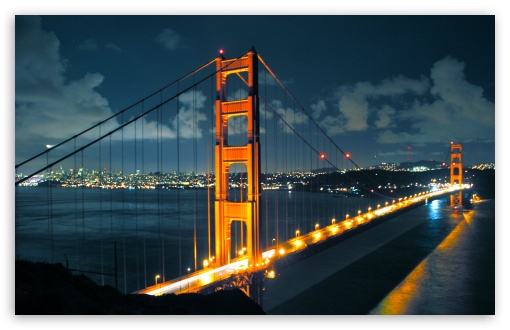 Download Night Golden Gate Bridge UltraHD Wallpaper