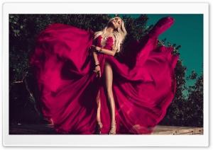 Monica Hansen Red Dress