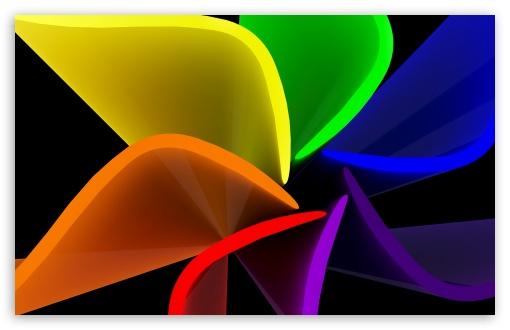 Download Rainbow Curve UltraHD Wallpaper