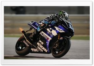 Yamaha Yzr M1 On Race Track