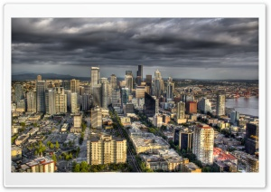 Aerial View Of Seattle,...