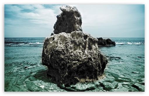Download Big Rock Denia Beach Spain UltraHD Wallpaper