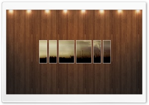 Pollution Picture   Wood Wall