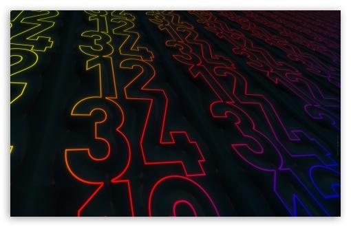 Download Light Numbers UltraHD Wallpaper