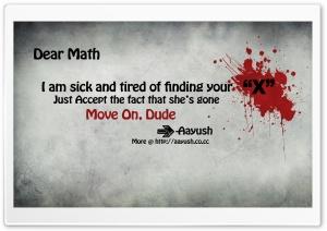 Blood Splatter Typography Maths
