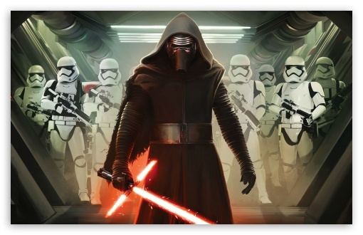 Download Kylo Ren and First Order Stormtroopers UltraHD Wallpaper