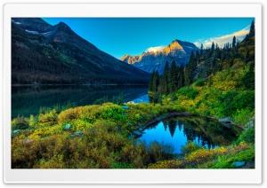 HDR Mountains Lake